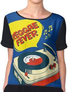 "REGGAE FEVER "" 100% VINYL TROJAN RECORDS ""  Chiffon Top"
