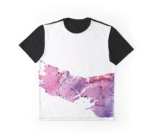 Watercolor Map of Prince Edward Island, Canada in Pink and Purple - Giclee Print  Graphic T-Shirt