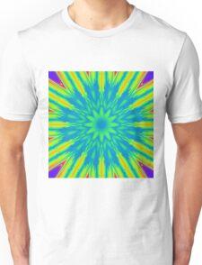Psychedelic rainbow burst Unisex T-Shirt