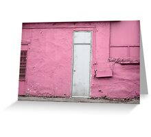 silver i - pictures from big pink I Greeting Card