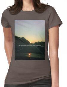 John 17:16 Womens Fitted T-Shirt