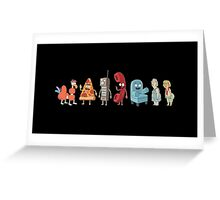 Rick and Morty mini-characters Greeting Card