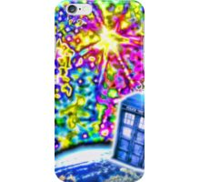 Tardis in a Psychedelic Universe iPhone Case/Skin