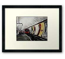 London Underground Wood Green Urban Cityscape Contemporary Acrylic Painting Framed Print