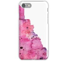 Watercolor Map of Yukon, Canada in Pink and Purple - Giclee Print of My Own Watercolor Painting iPhone Case/Skin