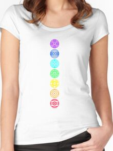 Soft Chakra - Colour Women's Fitted Scoop T-Shirt