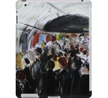 London Underground Urban Cityscape Subway Station Contemporary Acrylic Painting iPad Case/Skin