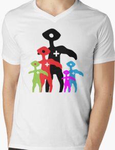 Squinty Family Mens V-Neck T-Shirt