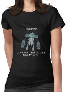 Where are My Testicles, Summer? Womens Fitted T-Shirt