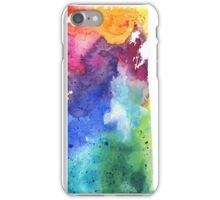 Watercolor Map of Saskatchewan, Canada in Rainbow Colors - Giclee Print  iPhone Case/Skin