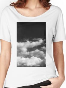 Clouds in black and white Women's Relaxed Fit T-Shirt
