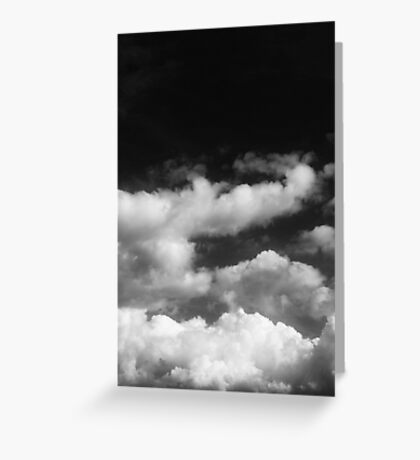 Clouds in black and white Greeting Card