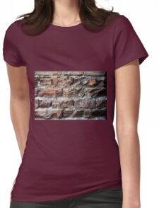 Old brick wall background  Womens Fitted T-Shirt