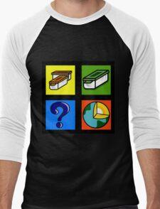 Geocaching Traditional Multi Mystery Earth Men's Baseball ¾ T-Shirt