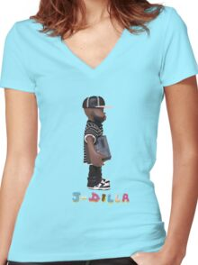 J Dilla tshirt Women's Fitted V-Neck T-Shirt