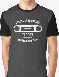 Toyota 40 Series Landcruiser FJ40 Round Bezel Est. 1960 Graphic T-Shirt