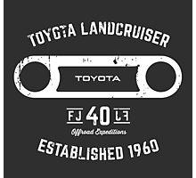 Toyota 40 Series Landcruiser FJ40 Round Bezel Est. 1960 Photographic Print