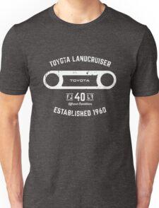 Toyota 40 Series Landcruiser FJ40 Round Bezel Est. 1960 Unisex T-Shirt