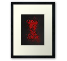 Red on my Ledger Framed Print