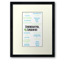 Destiel | Quotes Framed Print