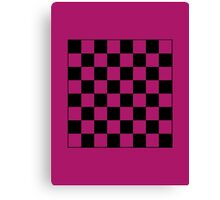 Pink Checkerboard Tote Bag Canvas Print