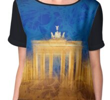 Modern Art BERLIN Brandenburg Gate Chiffon Top