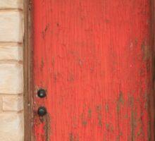 Red Door Sticker