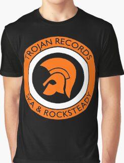 "TROJAN RECORDS SKA ROCKSTEADY "" ORANGE "" Graphic T-Shirt"
