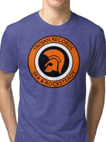"TROJAN RECORDS SKA ROCKSTEADY "" ORANGE "" Tri-blend T-Shirt"