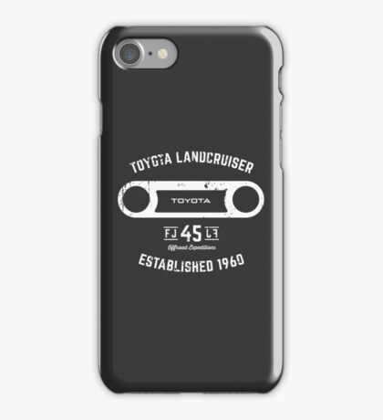 Toyota 40 Series Landcruiser FJ45 Round Bezel Est. 1960 iPhone Case/Skin