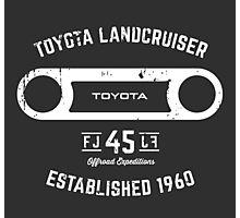 Toyota 40 Series Landcruiser FJ45 Round Bezel Est. 1960 Photographic Print