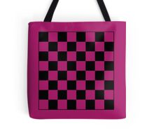Pink Checkerboard Tote Bag Tote Bag