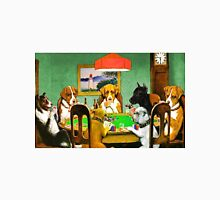 Dogs Playing Poker Cards  Unisex T-Shirt