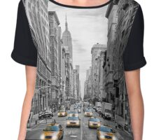 NYC 5th Avenue Yellow Cabs Chiffon Top