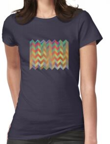 Chevron On Stilts Womens Fitted T-Shirt