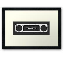 Toyota 40 Series Diesel Landcruiser Square Bezel Framed Print