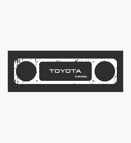 Toyota 40 Series Diesel Landcruiser Square Bezel Photographic Print