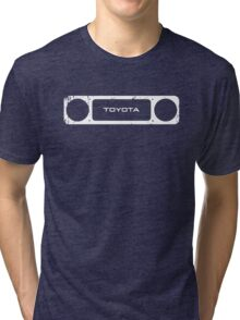 Toyota 40 Series Landcruiser Square Bezel Tri-blend T-Shirt
