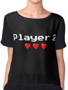 Player 2 couple's logo - Black background Chiffon Top