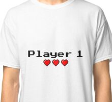 Player 1 couple's logo - White background Classic T-Shirt