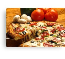 vegetables italian pizza restaurant Canvas Print