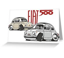 Fiat 500 personalized for Olivia Greeting Card