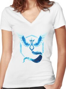 Team Mystic Low Poly Women's Fitted V-Neck T-Shirt