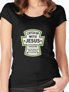 Catch up with Jesus Women's Fitted Scoop T-Shirt