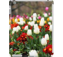 White Tulips in Spring in London iPad Case/Skin