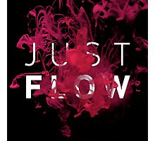 JUST FLOW (Pink & Black) Photographic Print
