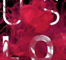 JUST FLOW (Pink & Black) Sticker