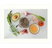 breakfast Preparations  Art Print