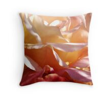 Sunny Peace Rose Petals Throw Pillow