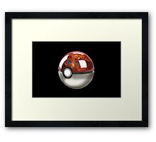 Pokeball Crystal Ball - Charizard Framed Print